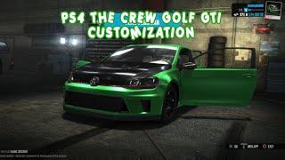 PS4 The Crew Volkswagen Golf Gti customization