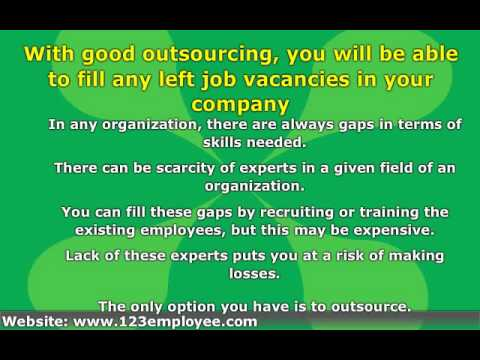 The importance of outsourcing in recruitment of employees