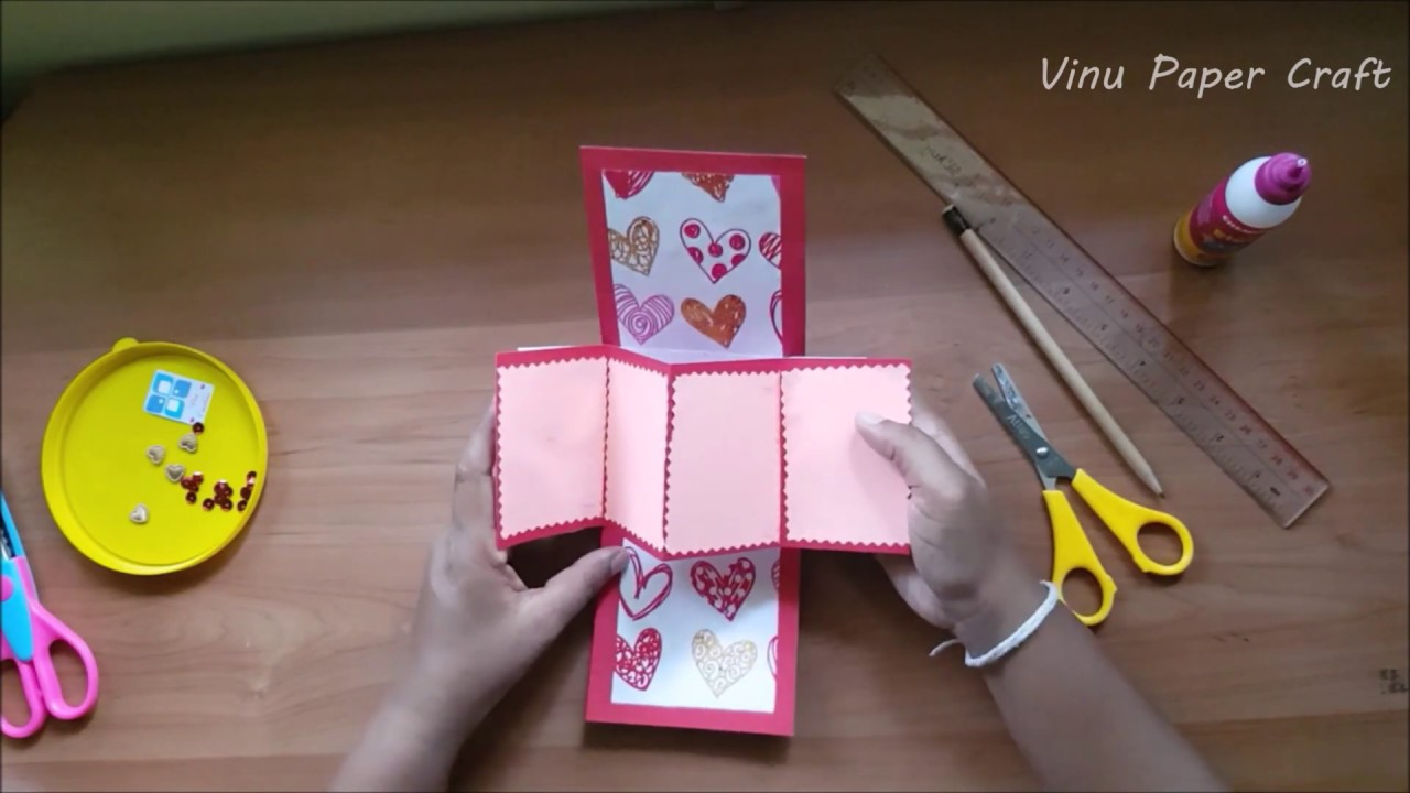 How To Make A Birthday Card Pops Up Paper Crafts Greeting Card