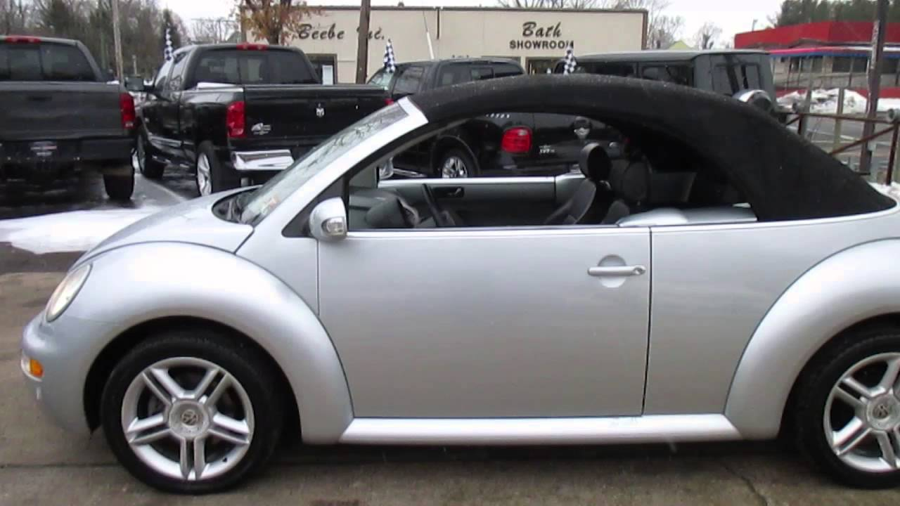 Volkswagen Beetle Convertible For Sale >> 2005 Volkswagen New Beetle Convertible GLS - YouTube