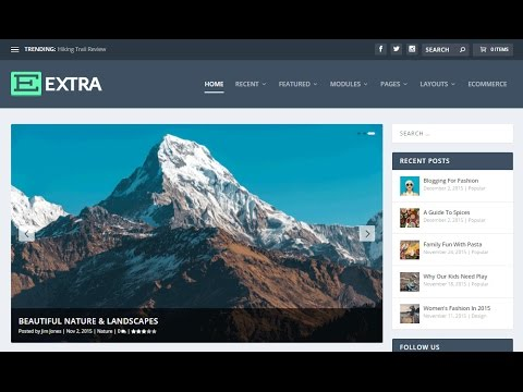 How To Make A WordPress Blog 2017 - Create A Blog With WordPress - EXTRA THEME