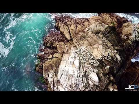 Asilomar Beach Pacific Grove California 4K Drone Video