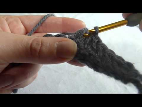 Stitch Scene: Double Crochet Decrease (double crochet 2 stitches together) (dc2tog)