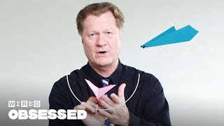 How This Guy Folds and Flies World Record Paper Airplanes | WIRED thumbnail