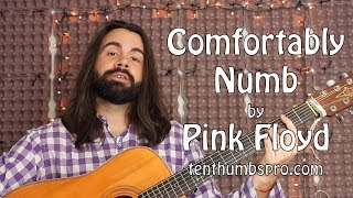 Comfortably Numb Pink Floyd Acoustic Guitar Tutorial
