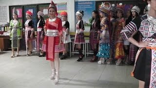 Rehearsal of the Miss Hmong show.. Hmong New Year 2017