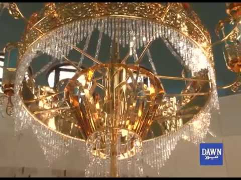 China gifts pure gold chandelier for mazar e quaid karachi youtube china gifts pure gold chandelier for mazar e quaid karachi mozeypictures Choice Image