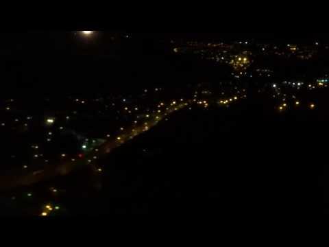 Flying Over Aberdeen At Night Then Landing At Aberdeen Airport (ABZ)