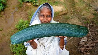 Winter Fresh Long Pumpkin with Big Shol Fish Cooking by Grandmother | Village Food
