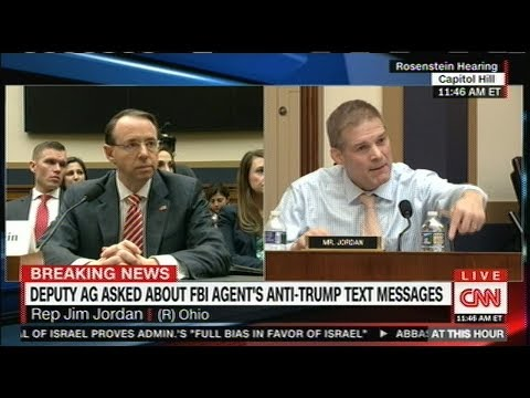 Fiery Jim Jordan (R) OH YELLS at Deputy AG Rosenstein Senate Hearing