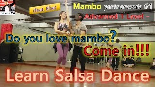 #InwooTV / Learn Salsa Dance - Mambo Partnerwork (with Elsa) Advanced 1 Level