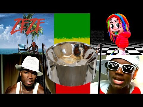 Steel Drum ZEZE + P.I.M.P + KIKA + Soulja Boy - How To Play - With Notes