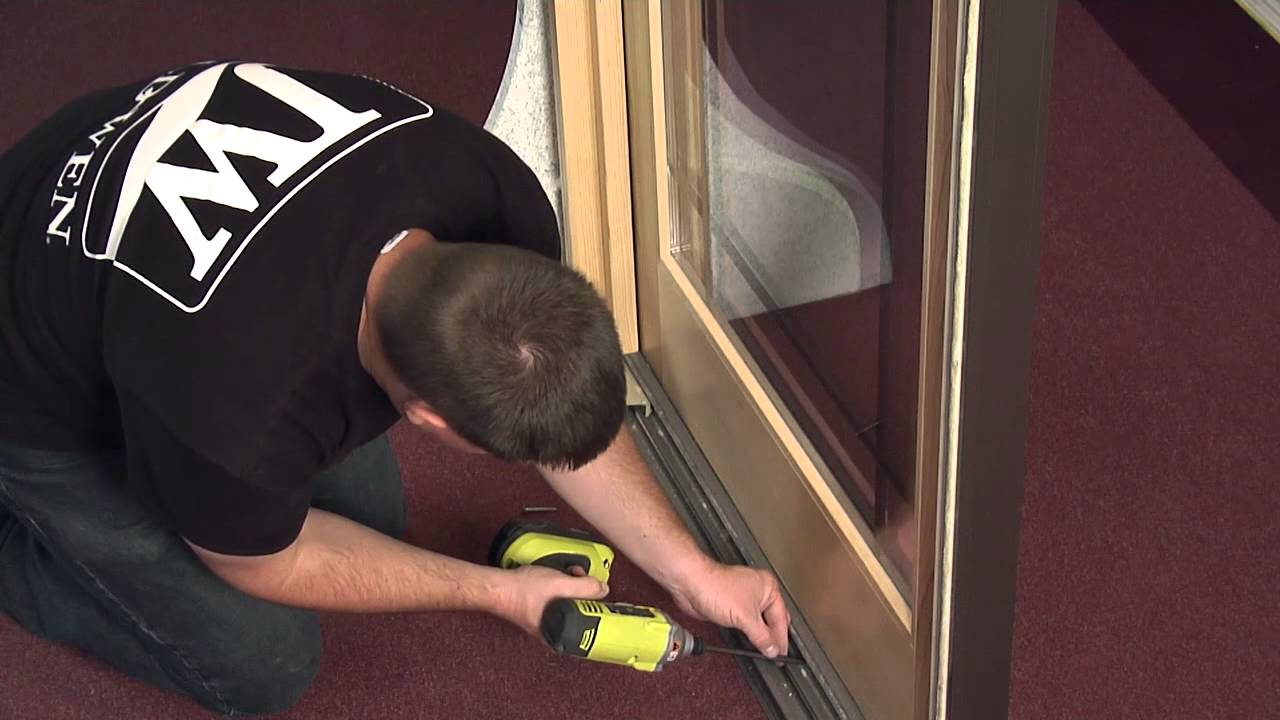 How To Remove And Reinstall A Stationary Panel In A Sliding Wood