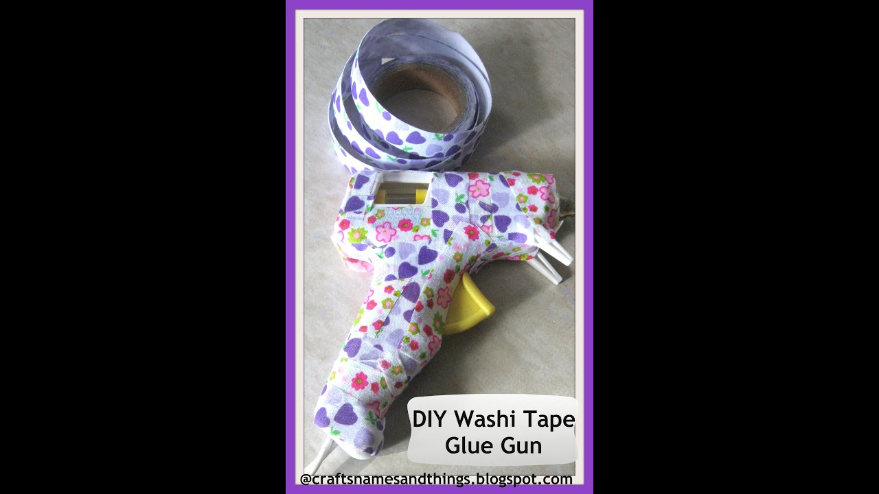 Diy Washi Tape Glue Gun How To Decorate Your With Crafts