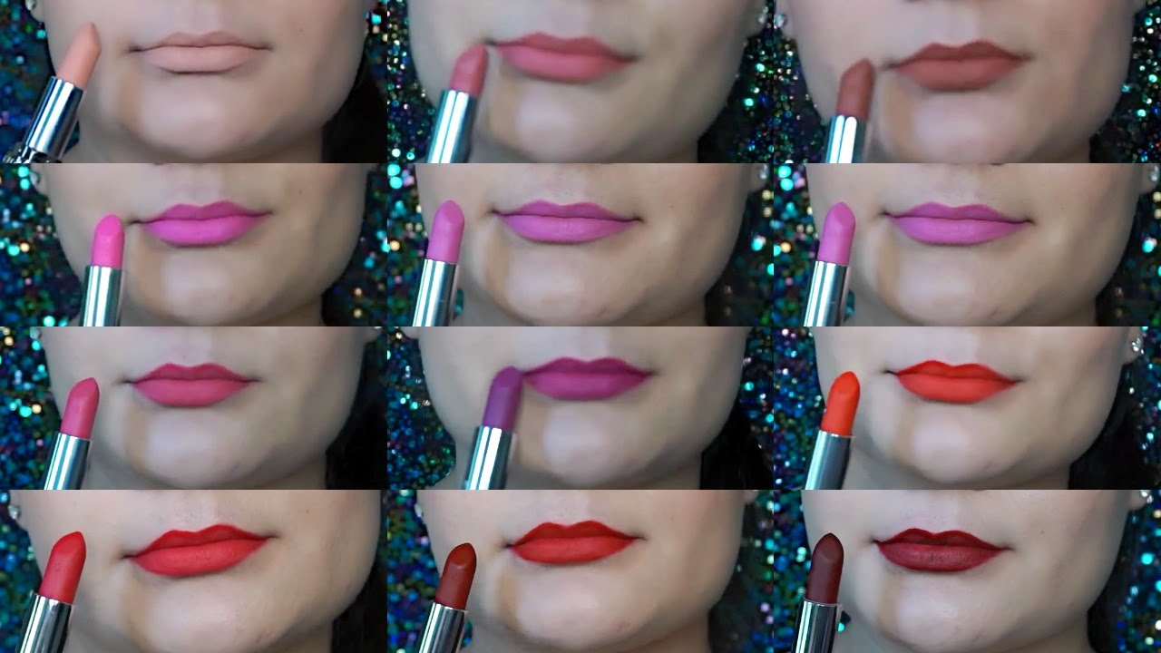 Avon True Color Perfectly Matte Lipstick Swatches All 12 Shades