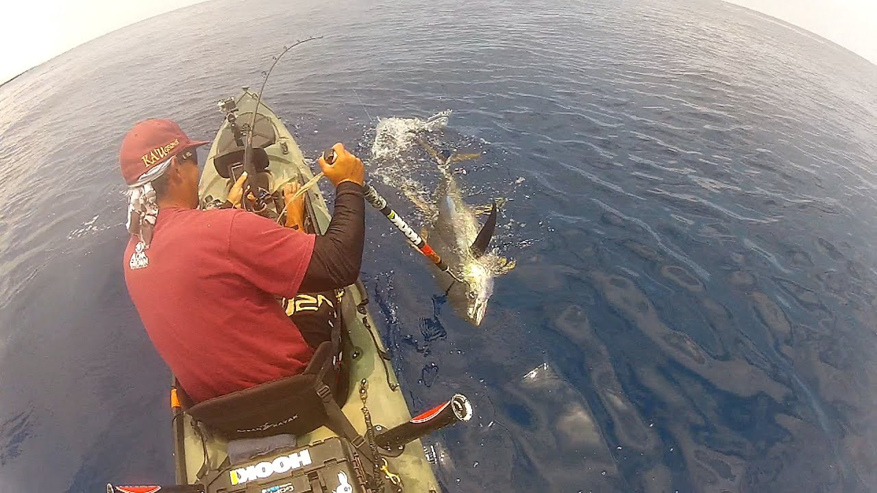 Extrme kayak fishing hawaii 103 ahi doovi for Kayak fishing hawaii