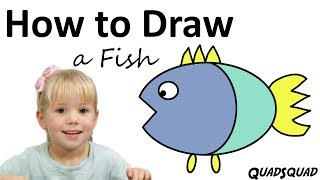 How to Draw a Fish - Simple Drawing for Kids - Craft Time with Ashley