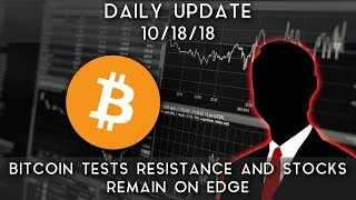 Daily Update (10/18/18) | Bitcoin holds near resistance, and stocks remain on edge