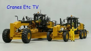 Diecast Masters Caterpillar 12M3 and 18M3 by Cranes Etc TV
