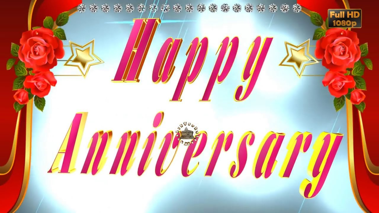 Happy Wedding Anniversarywisheswhatsapp Videogreetingsanimation
