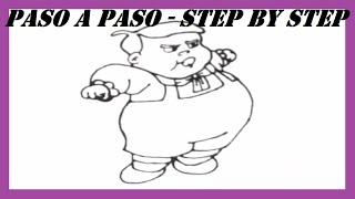 Como dibujar a Ñoño paso a paso l How to draw Ñoño step by step l El Chavo del 8