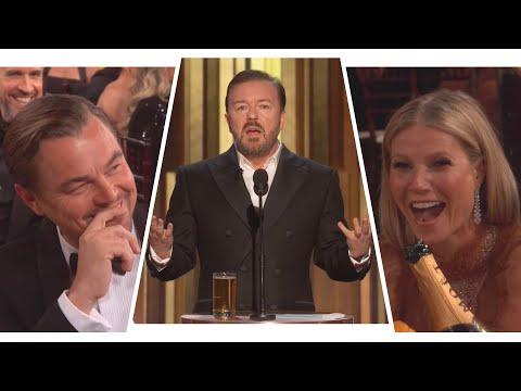 Ricky Gervais' Golden Globes 2020 Monologue Shades Felicity Huffman, Leonardo DiCaprio and More