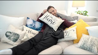 Couples and throw pillows