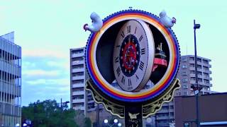 GIANT JAPANESE TAIKO DRUM CLOCK, in Kurume, Japan