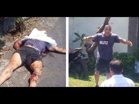 VIDEO Amokrane Sabet TEWAS Di Tembak Polisi Bali - Amokrane Sabet's Death in Bali