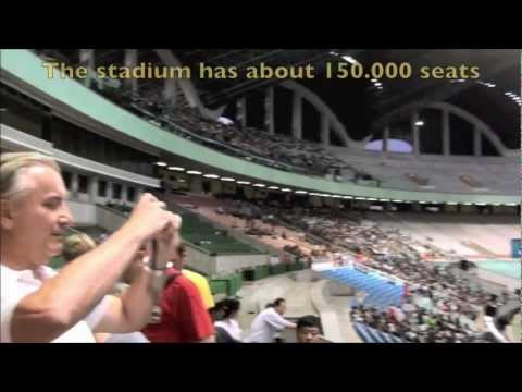 The Mighty Mayday stadium in Pyongyang (DPRK)