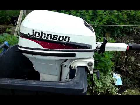 Evinrude 15 Hp >> Johnson 9.9hp outboard engine - YouTube