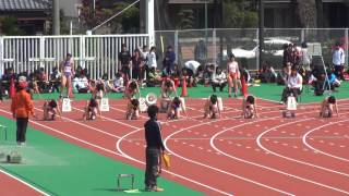 2013年4月14日愛知国体選考・強化普及競技会 女子100m 9組 水野瑛 検索動画 48