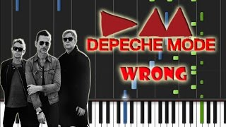 Depeche Mode - Wrong Piano Cover [Synthesia Piano Tutorial]