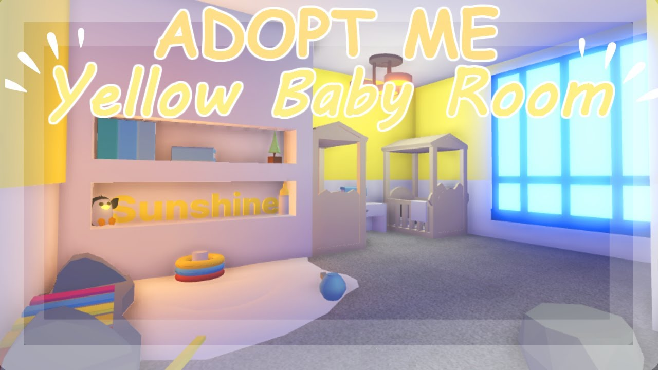 Yellow Baby Room ~ Adopt Me Build Hacks 🍼 - YouTube