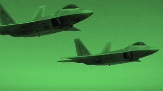 A Squadron of F-22s Goes on a Strike Mission Against ISIS