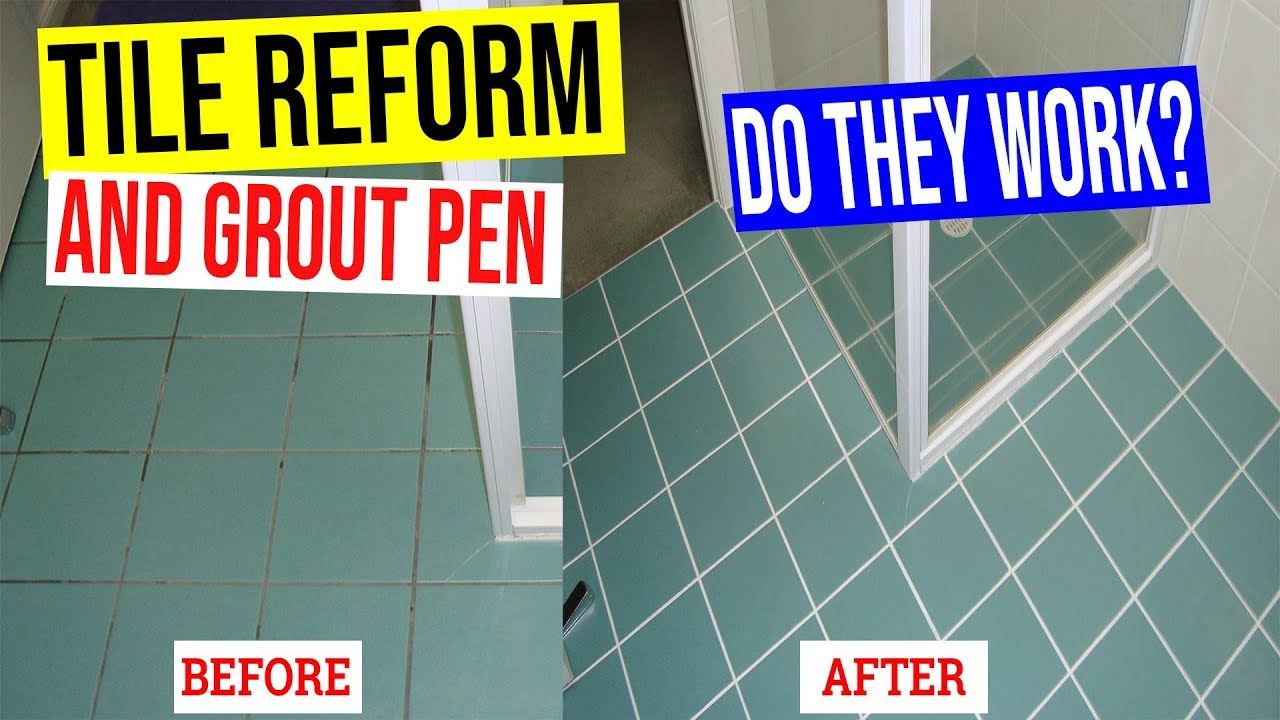 Tile Reform Grout Cleaner and Grout Pen Review Demo - Do they work ...