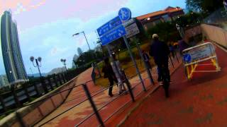 Passing by Tai Po Harbour bike trail