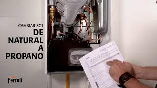 Cómo cambiar la caldera de gas natural a gas propano - Tutorial Ferroli