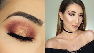 Cranberry and Gold Halo Smokey Eye | Morphe X Jaclyn Hill Palette