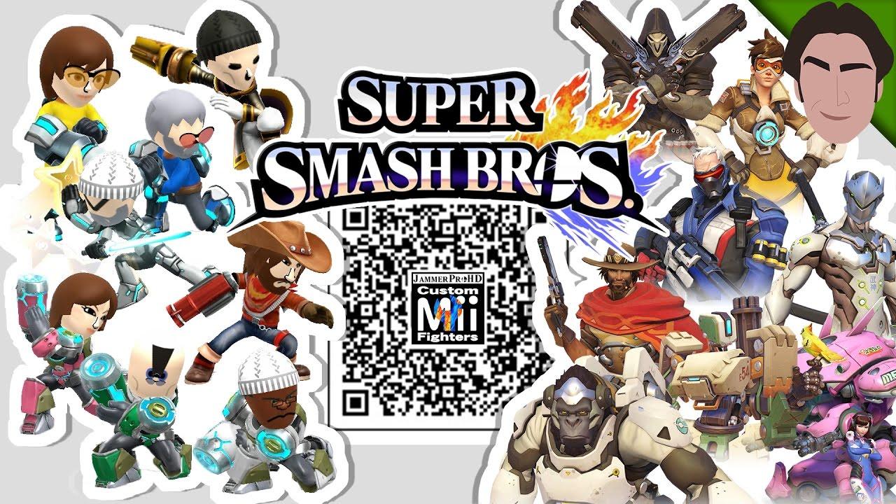 Animal Crossing Qr Codes Wallpaper Tracer Reaper Genji Amp More Overwatch Mii Fighter Qr