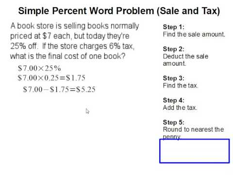 Percent word problem (sale and tax) - YouTube