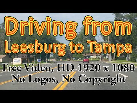 Driving from Leesburg to Tampa (Royalty free video)