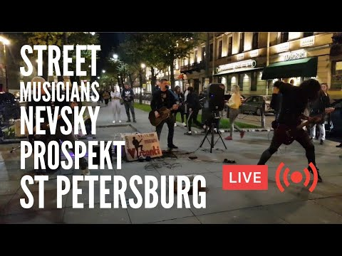 LIVE! Street Musicians on Nevsky in St Petersburg! They Are Back!