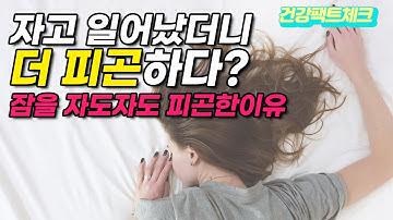 [잠을자도자도피곤한이유] 이것 때문이었어?!