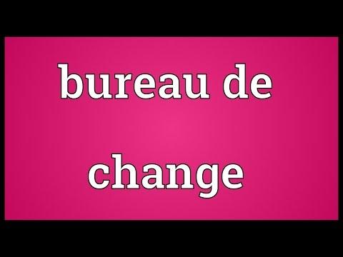 Bureau de change Meaning