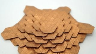 Origami Spread Hex Tessellation (Eric Gjerde) - normal speed collapsing