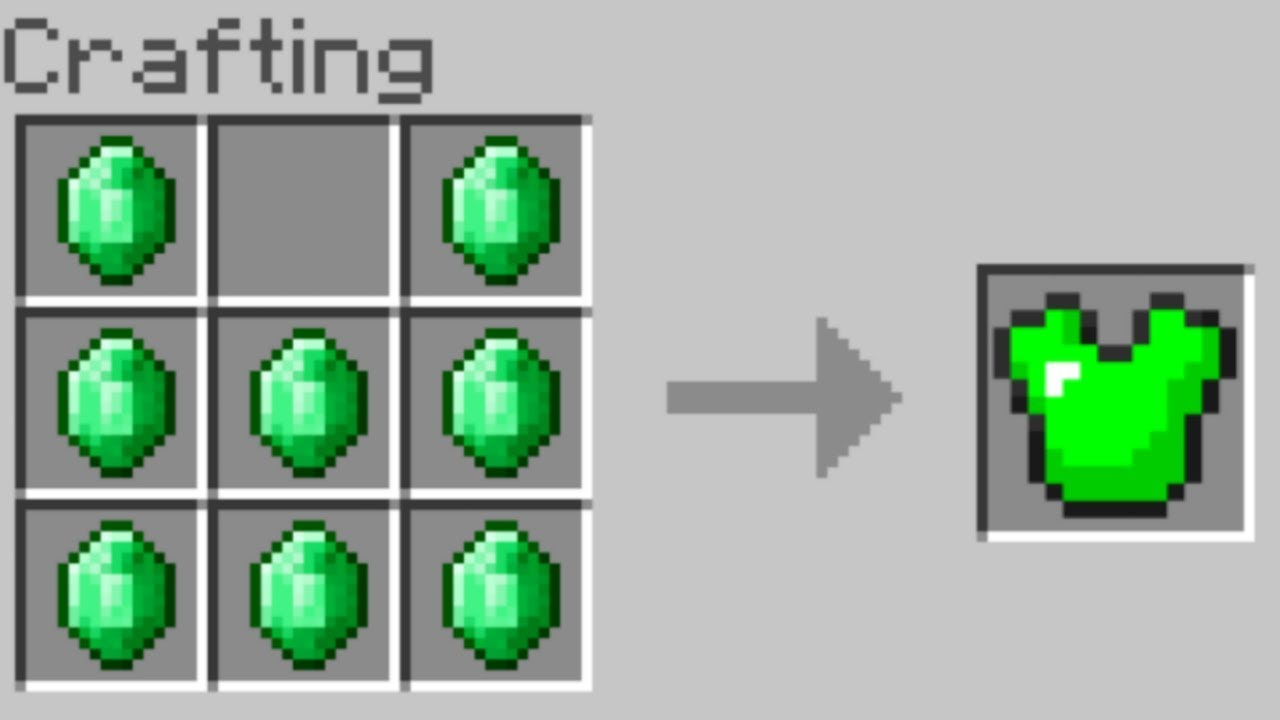 minecraft new crafting ideas how to craft emerald armor in minecraft new crafting 4961