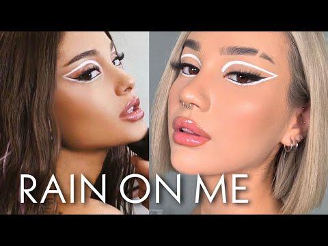 Lady Gaga & Ariana Grande RAIN ON ME Inspired Makeup