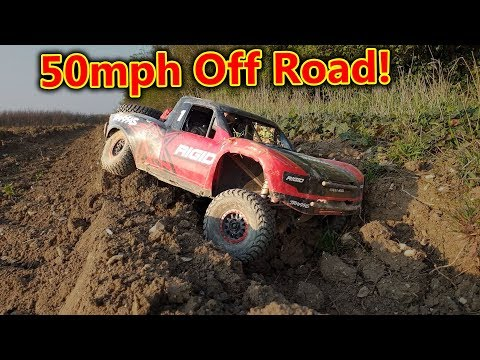High Speed Off Road With CRASHES! Traxxas UDR Assault!