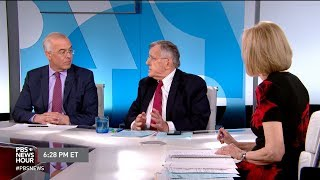 Shields and Brooks on the Mueller report and what happens next Syndicated columnist Mark Shields and New York Times columnist David Brooks join Judy Woodruff to analyze the impact of the Mueller report, with Rep.